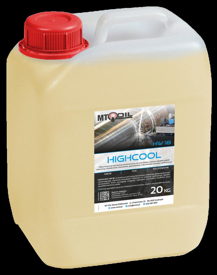 Unikalne HighCool HW 18 - Chłodziwo półsyntetyczne do obróbki metali do EP08